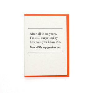 Constellation & Co. Card - After All These Years Love