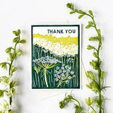 Heartell Press Card - Queen Anne's Lace Thank You