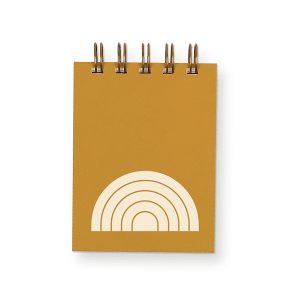 Ruff House Print Shop Mini Jotter Notebook - Rainbow in Saffron