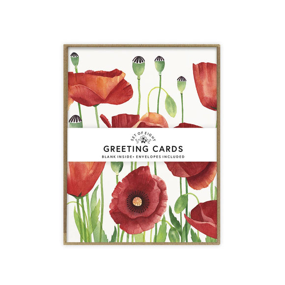 May We Fly boxed set of cards - Poppies