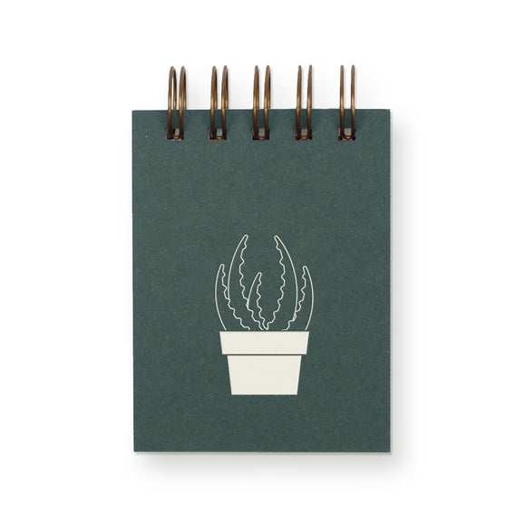 Ruff House Print Shop Mini Jotter Notebook - Succulent