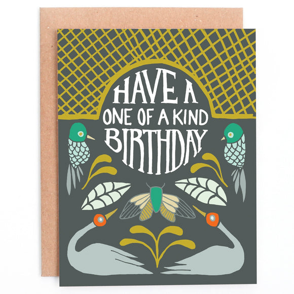 Peppercorn Paper Card - One of A Kind Birthday
