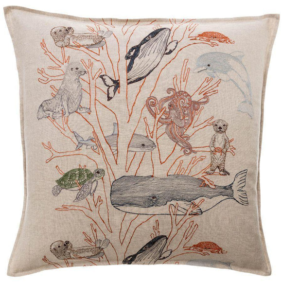 Coral & Tusk Pillow - Coral Forest