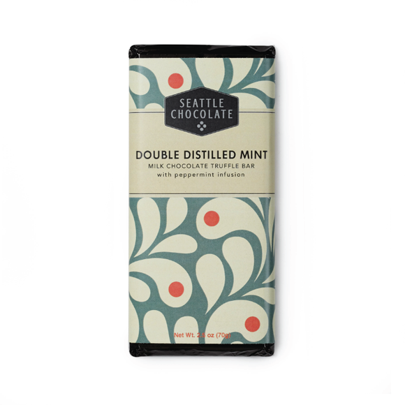 Seattle Chocolate Double Distilled Mint Truffle Bar