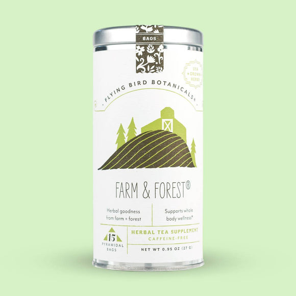 Flying Bird Botanicals Farm & Forest 15 Tea Bag Tin