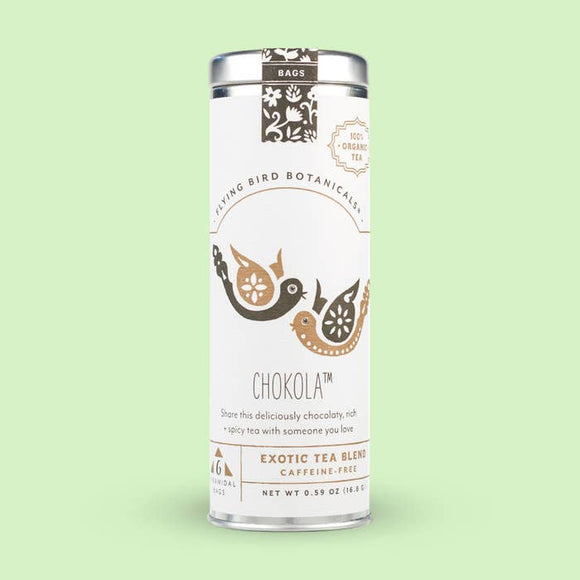 Flying Bird Botanicals Chokola 6 Tea Bag Tin