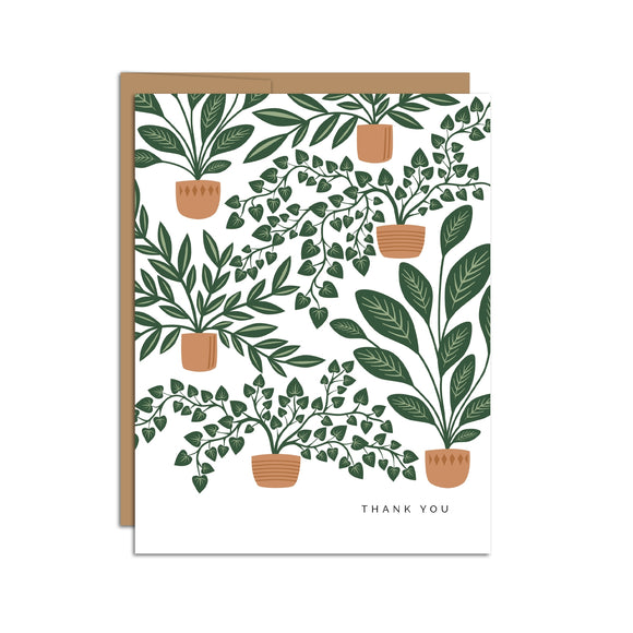 Hazelmade Card - Houseplants Thank You