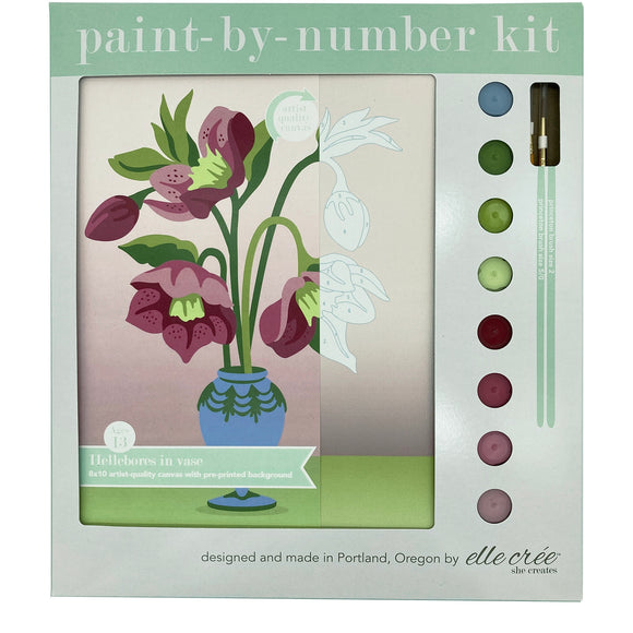 elle crée Paint-by-Number Kit - Hellebores in Vase