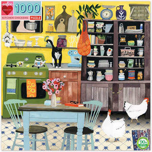 eeBoo Kitchen Chickens 1000 Piece Puzzle