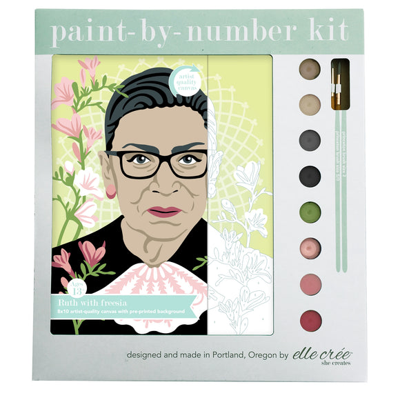 elle crée Paint-by-Number Kit - Ruth with Freesia
