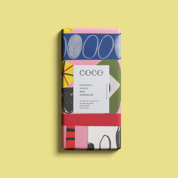 Coco Chocolate Bar - Rhubarb & Ginger