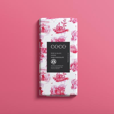Coco Chocolate Bar - Rose & Black Pepper