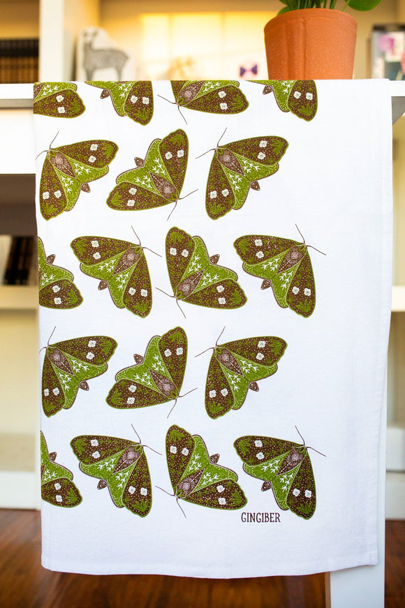 Gingiber Tea Towel - Moths