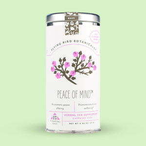 Flying Bird Botanicals Peace of Mind 15 Tea Bag Tin