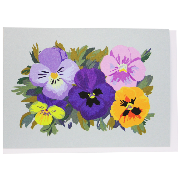 Smudge Ink Boxed Notecards - Pansy Patch
