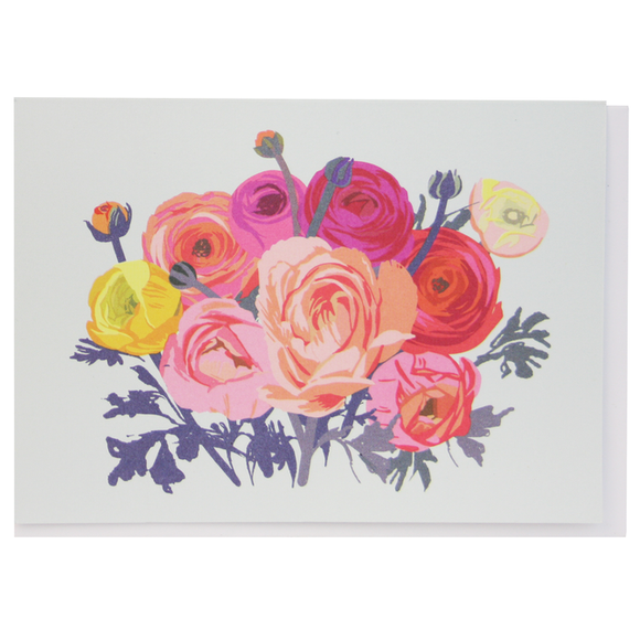 Smudge Ink Boxed Notecards - Ranunculus