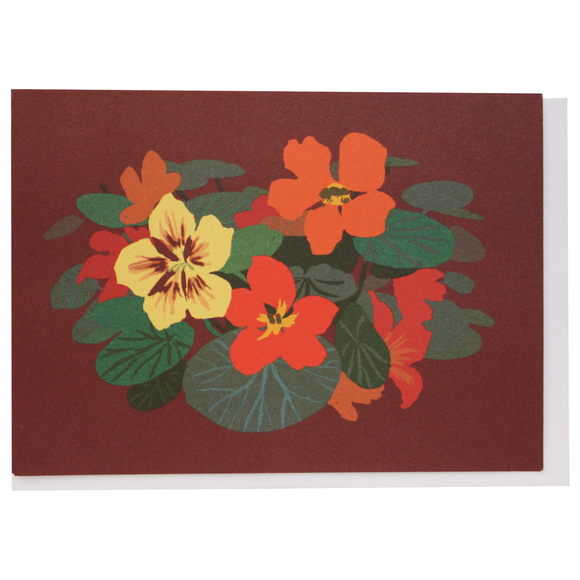 Smudge Ink Boxed Notecards - Nasturtiums