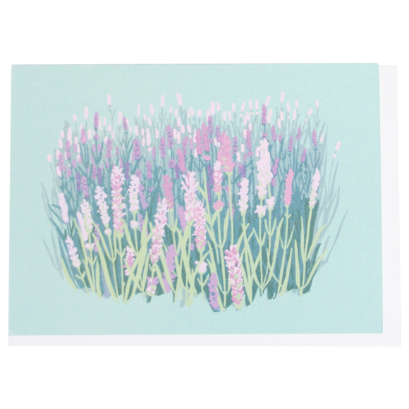 Smudge Ink Boxed Notecards - Lavender