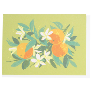 Smudge Ink Boxed Notecards - Oranges