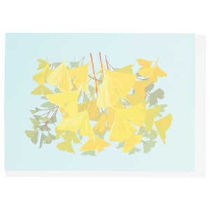 Smudge Ink Boxed Notecards - Autumn Ginko