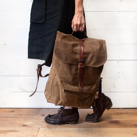 Peg and Awl - Waxed Canvas - Rogue Backpack in Spice