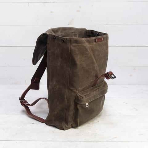 Peg and Awl - Waxed Canvas - Rogue Backpack in Truffle