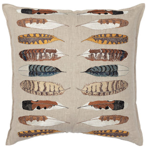 Coral & Tusk Pillow - Feather Harmony