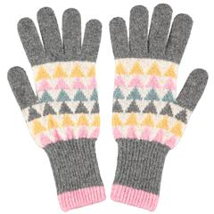 Catherine Tough Women's Lambswool Gloves - Triangle Pattern
