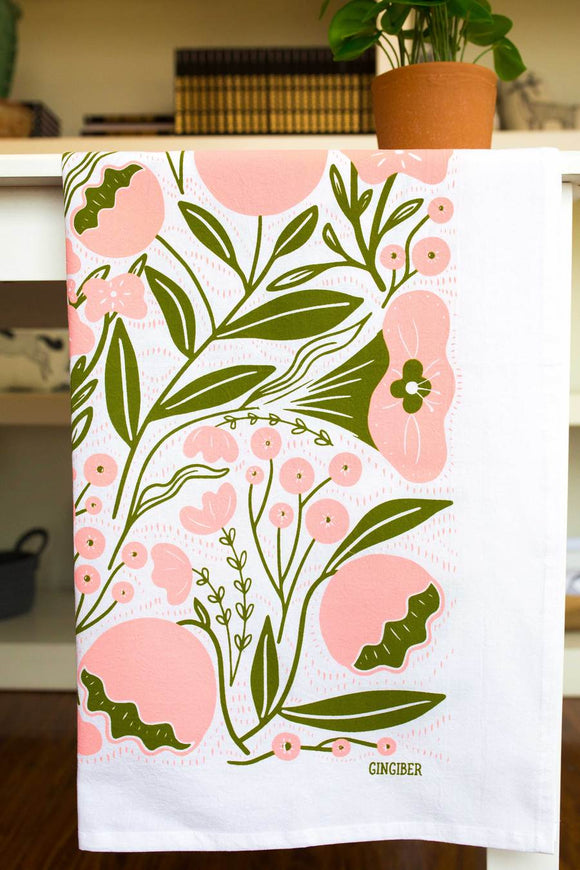 Gingiber Tea Towel - Flowers