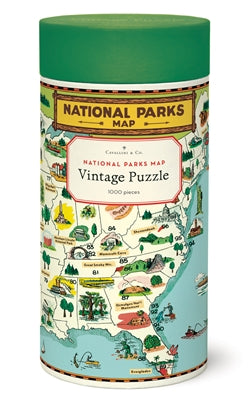 Cavallini & Co. 1000 Piece Vintage Puzzle - National Parks Map