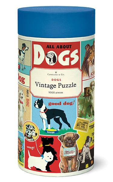 Cavallini & Co. 1000 Piece Vintage Puzzle - Dog