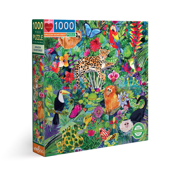 eeBoo Round Puzzle - Amazon Rainforest
