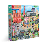 eeBoo Paris in a Day 1000+ Piece Puzzle