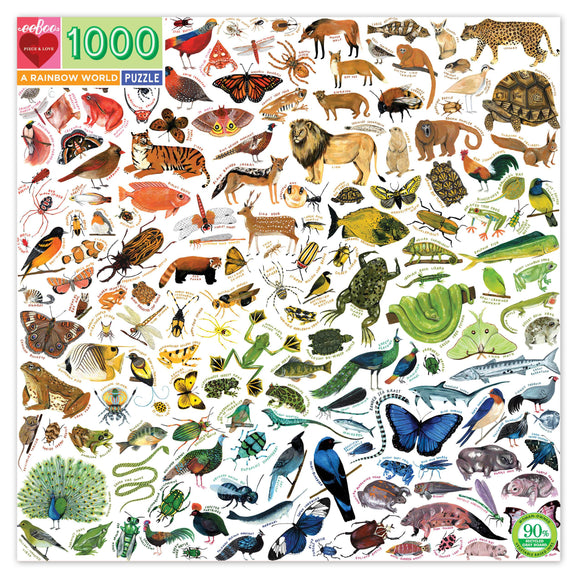 eeBoo Rainbow World 1000 Piece Puzzle