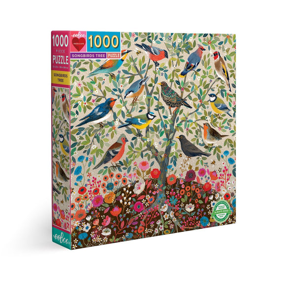 eeBoo Songbirds 1000 Piece Puzzle