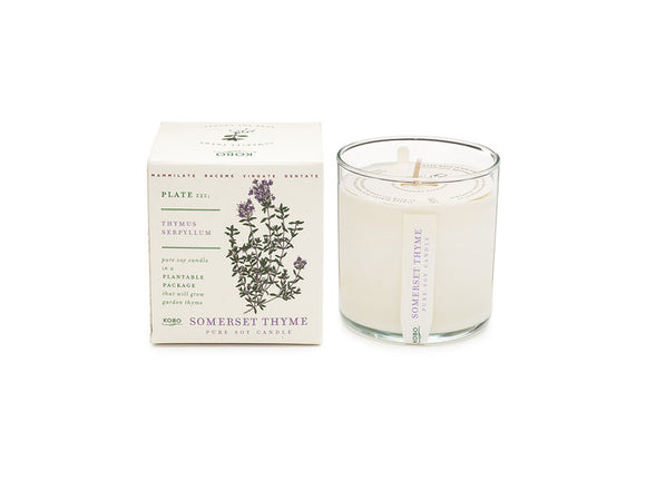 Kobo Plant the Box Collection Candle - Somerset Thyme
