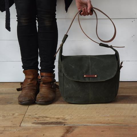 Peg and Awl - The Finch Satchel in Moss