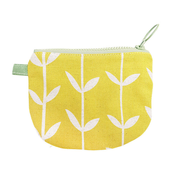 Skinny laMinx Change Purse - Orla Solid in Lemon with Spruce Lining