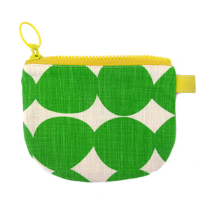 Skinny laMinx Change Purse - Pebble in Brazil with Lemon Lining