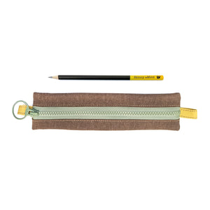Skinny laMinx Pen & Pencil Bag - Cocoa with Flower Fields Goldenrod Lining