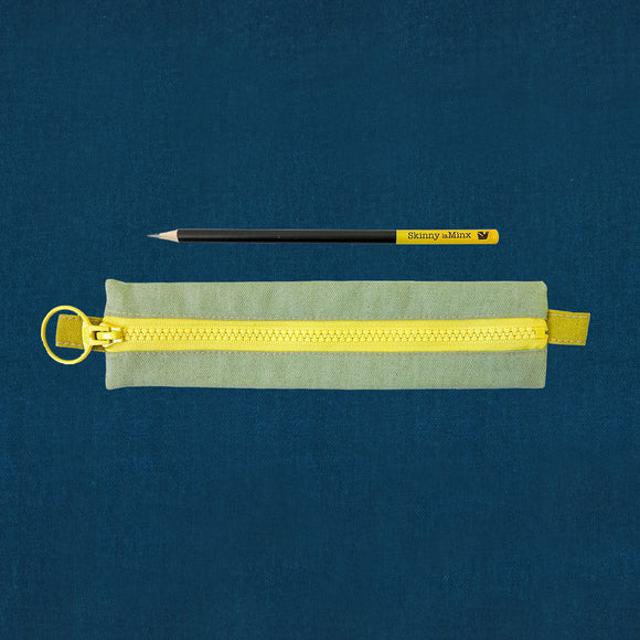 Skinny laMinx Pen & Pencil Bag - Spruce with Aperture Moonbeam Lining