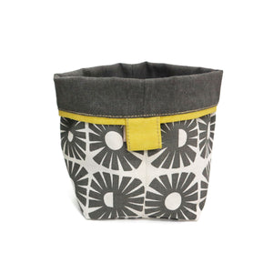 Skinny laMinx Small Soft Bucket - Sunshine in Graphite with Graphite Lining