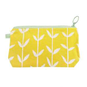 Skinny laMinx Stash Bag - Orla Solid in Lemon with Spruce Lining