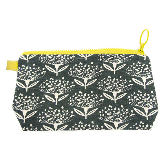 Skinny laMinx Stash Bag - Pincushion in Charcoal with Lemon Lining