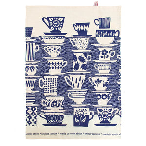 Skinny laMinx Tea Towel - When Everyone Came to Tea in Inky Blue