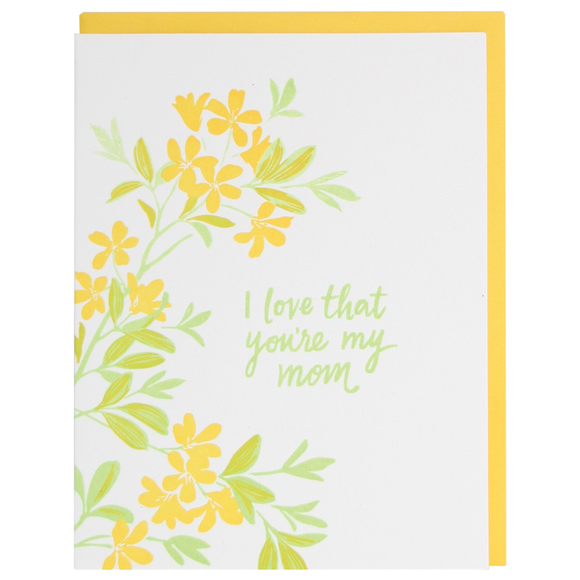 Smudge Ink Mother's Day Card - Yellow Blossoms