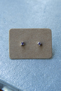 Tashi Amethyst Stud Earrings