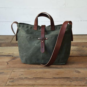 Peg and Awl - Waxed Canvas - Tote in Moss