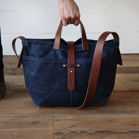 Peg and Awl - Waxed Canvas - Tote in Rook