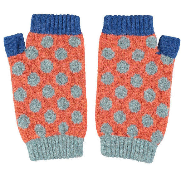 Catherine Tough Women's Lambswool Wrist Warmers - Spots